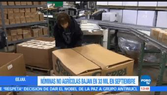 Creación Empleo Estados Unidos Baja Septiembre
