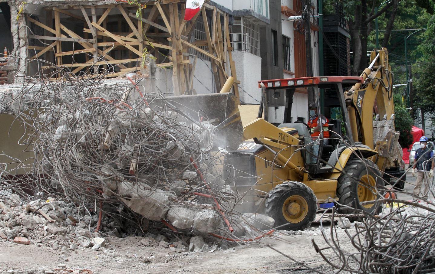 demolición de edificios dañados por sismos del 19 de septiembre