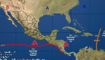 depresion tropical podria fortalecerse eu huracan