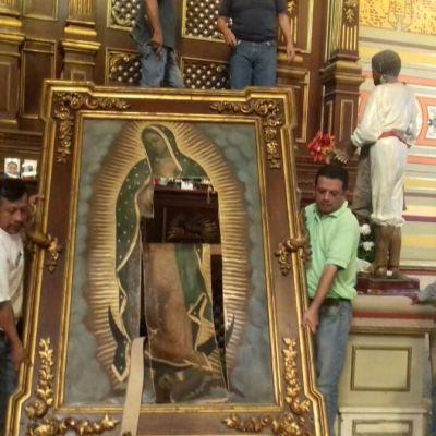 Mujer destroza óleo de la Virgen de Guadalupe en catedral de Tampico