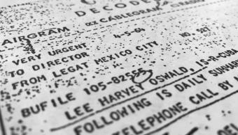 Documento de la CIA sobre investigación en México de Lee Harvey Oswald