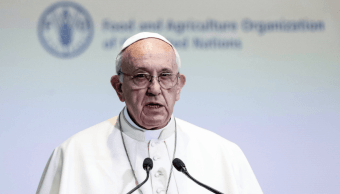 El papa Francisco dio un discurso en la FAO