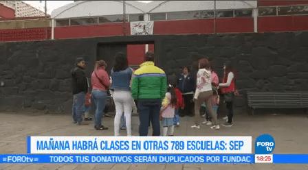 Martes Reanudan 789 Escuelas Cdmx Sep Informó