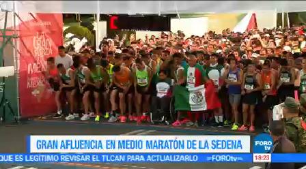 Gran Afluencia Medio Maratón Sedena Domingo Secretaría Defensa Nacional