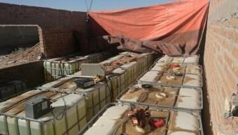 PGR asegura 40 mil litros de hidrocarburo en Cd. Juárez, Chihuahua