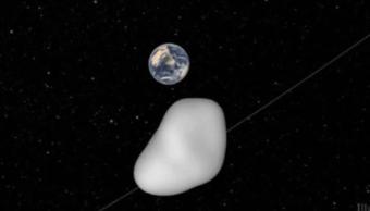 Ilustracion de la Nasa que muestra el paso del asteroide