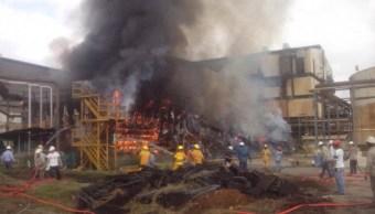Se incendia nave de ingenio azucarero en Chiapas