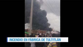 Incendio Fábrica Tultitlán Ubicada Reporta