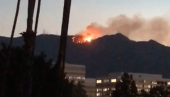 Incendio forestal en Mount Wilson, en Los Angeles