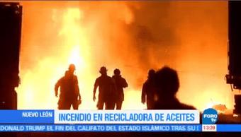 Incendio Recicladora Aceites Nuevo León