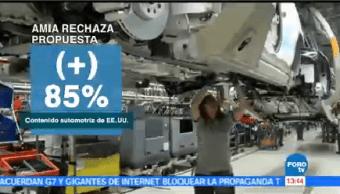 Industria Automotriz Mexicana Rechaza Propuesta Regla Origen Tlcan