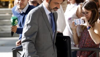 Mayor de los Mossos d'Esquadra, Josep Lluís Trapero, sale de Audiencia Nacional