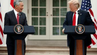 Lee Hsien Loong y Donald Trump en la Casa Blanca