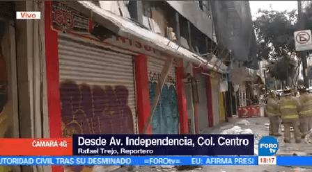 Lesiona Menor Caída Marquesina Edificio Dañado Cdmx