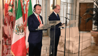 Agradece Videgaray apoyo de Italia a México por sismos