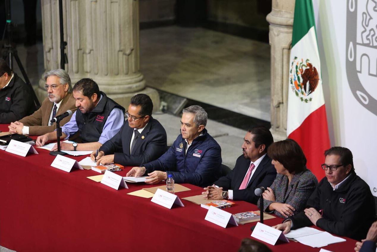Mancera pide más recursos para la reconstrucción de la CDMX