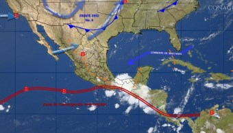 mapa con el clima para este 10 de octubre }