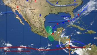 mapa con el clima para este 18 de octubre