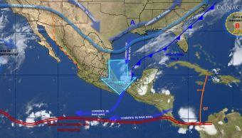 mapa con el pronostico del clima
