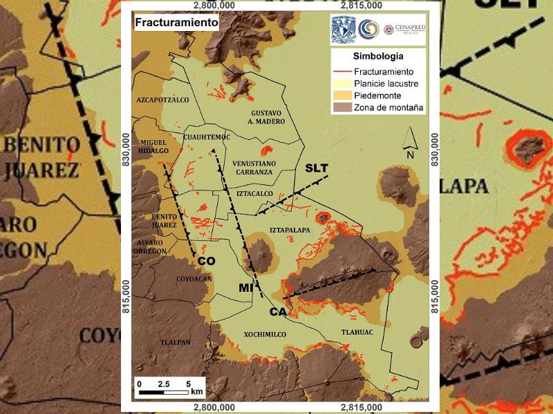 geologoc mapean fallas geologicas en la cdmx