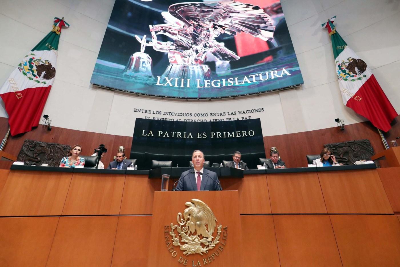 José Antonio Meade comparece ante senadores