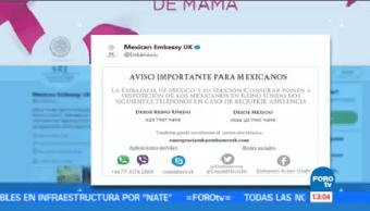 Tienen Reporte Mexicanos Heridos Londres Embajada México