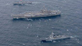 Estados Unidos despliega portaaviones Pacífico y niega que sea Norcorea