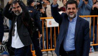 Envían prisión líderes independentistas catalanes sedición
