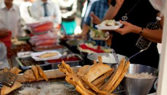 Puesto ambulante de comida en México