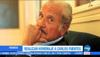 Realizan Homenaje Carlos Fuentes Francia Embajada México
