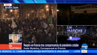 Respiro Francia Comparecencia Presidente Catalán Kasia Wyderko