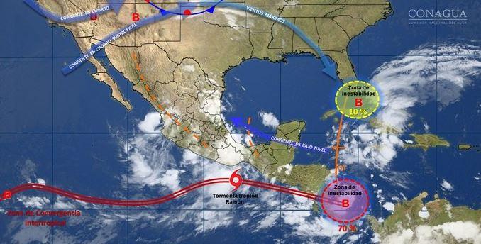 Alerta en Oaxaca por efectos de tormenta tropical Ramón