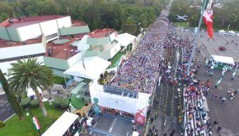 Gran participación en el medio maratón de la Sedena