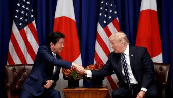 Shinzo Abe y Donald Trump durante un encuentro en Nueva York