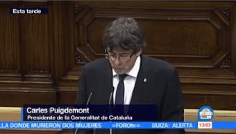 Suspenden Declaratoria Independencia Cataluña