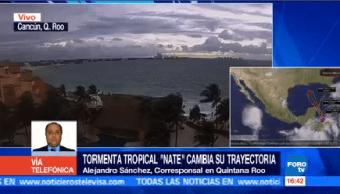 Tormenta Tropical Nate Cambia Trayectoria Localiza Kilómetros Cancún