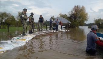 Lluvias provocan desbordamiento del río Usumacinta en Tabasco