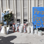 Velas y flores en honor a las víctimas en Las Vegas