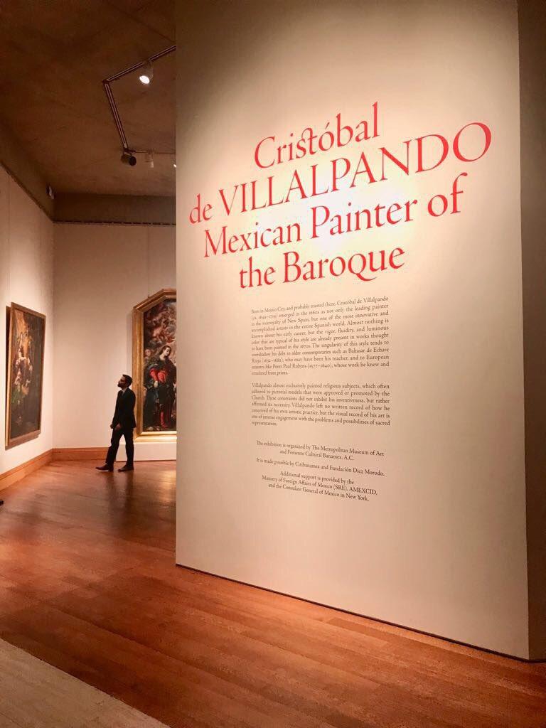 Videgaray visita el MET con motivo de la ceremonia clausura de la exposición del pintor mexicano Cristóbal de Villalpando. (SRE)