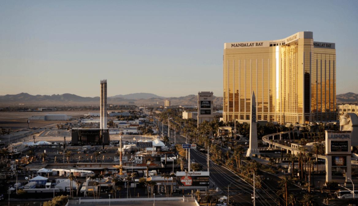 Vista de Las Vegas, donde se aprecia el hotel Mandalay Bay