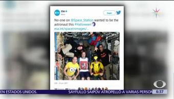 Astronautas de la EEI se disfrazan para Halloween