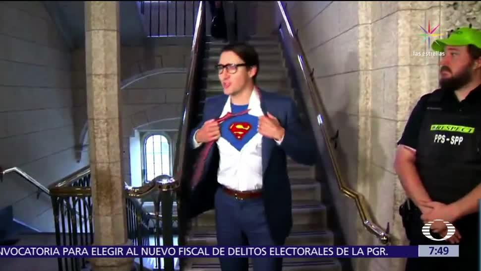 Justin Trudeau se convierte en Clark Kent para Halloween
