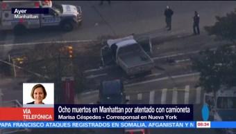 Al menos ocho muertos tras atentado en Manhattan, EU