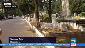 Hay poca afluencia de visitantes en el Panteón Jardín de la CDMX