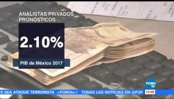 Analistas privados mantienen sin cambios pronóstico de crecimiento del PIB de México