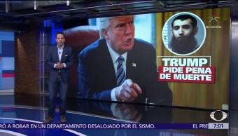 Trump pide la pena de muerte para atacante de Nueva York