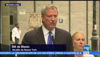 Bill de Blasio, alcalde de NY, habla del ataque en Manhattan