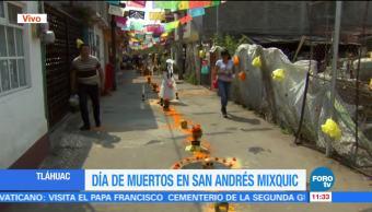 Preparan veladoras en San Andrés Mixquic para 'alumbrada' de Día de Muertos