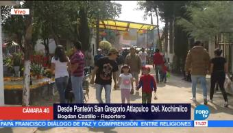San Gregorio Atlapulco recuerda a sus difuntos en Día de Muertos