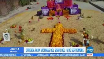 Recuerdan a víctimas del sismo del 19-S en Jojutla, Morelos